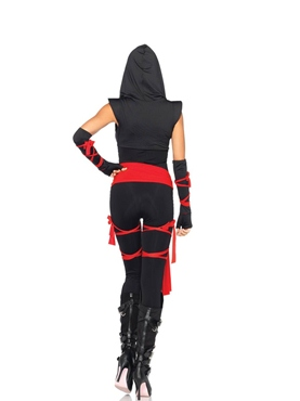 Adult Deadly Ninja Costume - Back View