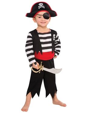 Pirate Seas Girl/'s Fancy Dress Kids Halloween Bucaneer Childrens Kids Costume