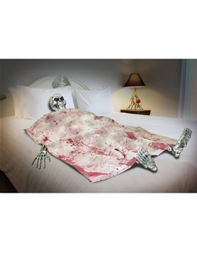 Skeleton Death Bed Prop