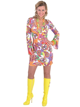 Deluxe 60's Fun Mini Dress Costume
