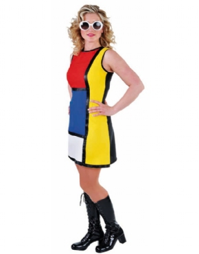 Adult Deluxe 60's Modern Art Costume