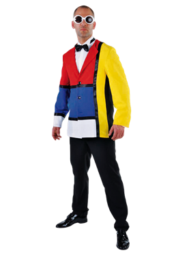 Adult Deluxe 60s Modern Art Jacket Couples Costume