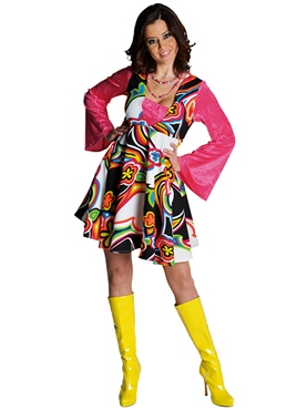 Adult Deluxe 70's Fantasy Dress Costume