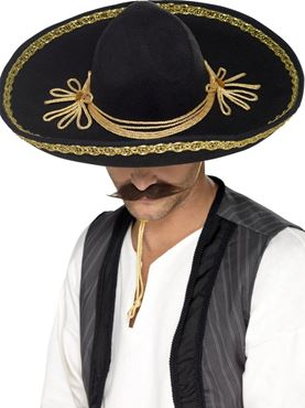 Deluxe Authentic Sombrero - Back View