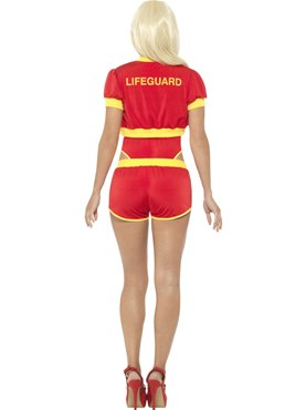 Deluxe Baywatch Lifeguard Costume - Side View
