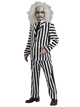 Adult Deluxe Beetlejuice Costume Couples Costume