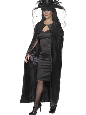 Deluxe Black Witches Cape