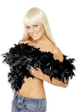 Deluxe Boa Black Feather