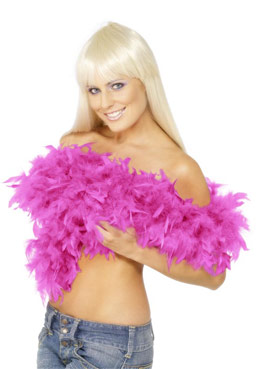Deluxe Boa Shocking Pink Feather