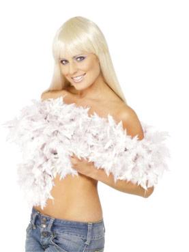 Deluxe Boa White Feather