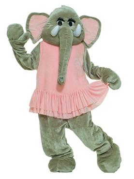 Adult Deluxe Dancing Elephant Mascot Costume