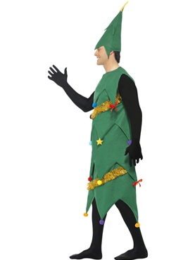 Adult Deluxe Christmas Tree Costume - Back View