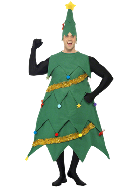 Adult Deluxe Christmas Tree Costume Couples Costume