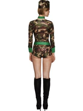 Adult Deluxe Combat Chick Army Costume - Side View
