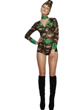 Adult Deluxe Combat Chick Army Costume