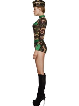 Adult Deluxe Combat Chick Army Costume - Back View