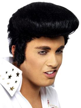Deluxe Elvis Wig Black