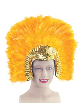 Deluxe Gold Feather Headdress