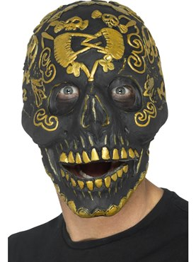 Deluxe Gold Masquerade Skull Mask