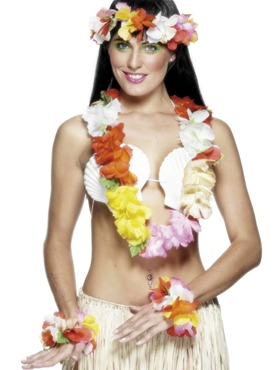 Deluxe Hawaiian Set Multicoloured
