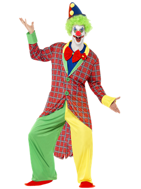 Adult Deluxe La Circus Clown Costume Couples Costume