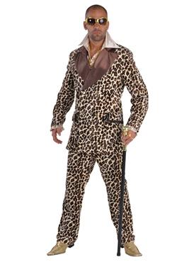 Deluxe Leopard Print Pimp Costume