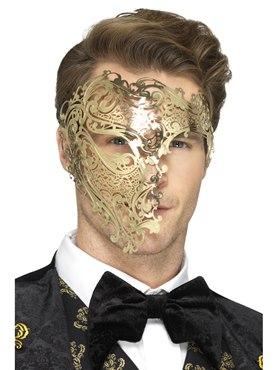 Deluxe Metal Filigree Phantom Mask