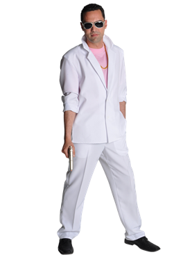 Deluxe Miami Vice 'Sonny Crockett' White Suit Couples Costume