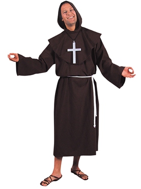 Adult Deluxe Monk Costume Brown