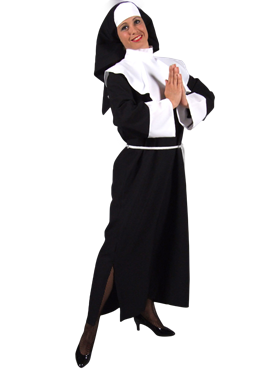 Adult Deluxe Mother Superior Nun Costume Couples Costume