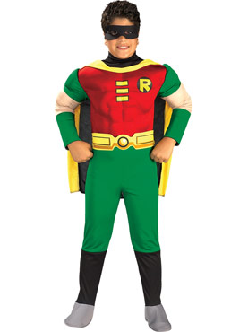 Deluxe Muscle Chest Robin Childrens Costume