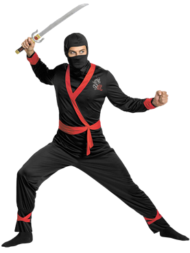 Deluxe Ninja Master Costume Couples Costume