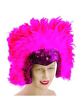 Deluxe Pink Feather Headdress