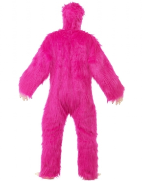 Adult Deluxe Pink Gorilla Costume - Side View