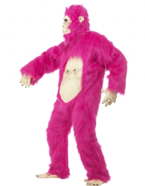 Adult Deluxe Pink Gorilla Costume - Back View