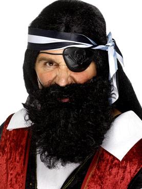 Deluxe Pirate Beard Black