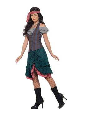 Deluxe Pirate Wench Costume - Back View