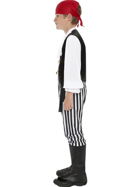 Child Deluxe Pirate Costume - Side View