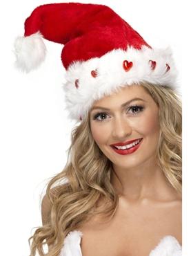 Deluxe Plush Light-Up Santa Hat