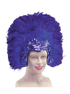 Deluxe Purple Feather Headdress