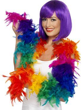 Deluxe Rainbow Feather Boa