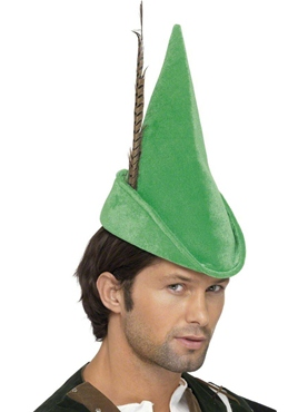 Deluxe Robin Hood Hat with Feather