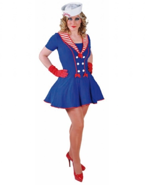 Adult Ladies Deluxe Sailor Girl Costume