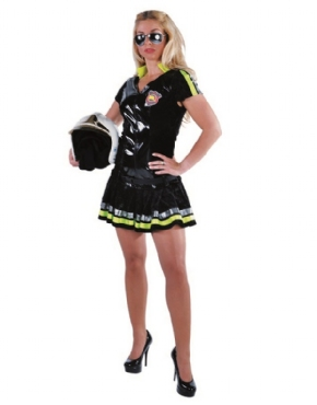 Adult Ladies Deluxe Sexy Firefighter Costume Thumbnail