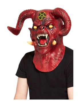 Deluxe Satanic Devil Overhead & Neck Mask