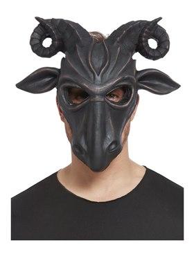 Deluxe Satanic Ram Mask