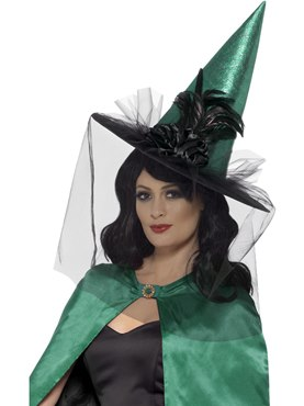 Deluxe Sorceress Witch Hat