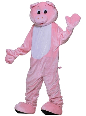 Adult Deluxe Pig Mascot Costume