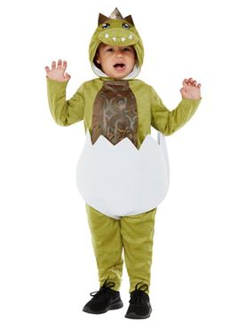 Deluxe Toddler Hatching Dino Costume - Back View