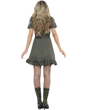 Adult Deluxe Top Gun Female Costume - Side View